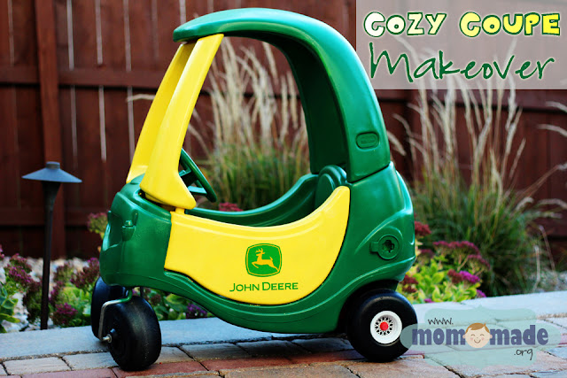 Little Tikes Cozy Coupe to John Deere Tractor Makeover