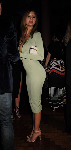 Zahia Dehar at Lisa Tchenguiz's 51st Birthday Party in London