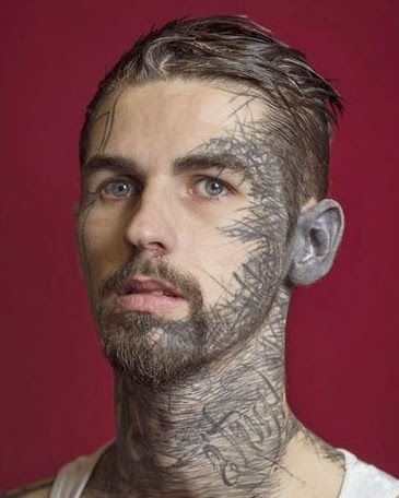 Gambar Tato Tattoo Di Bagian Wajah Seni Tato