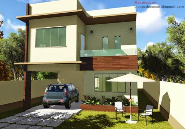 Plano de casa de dos plantas planos de casas gratis y Fachadas para casas de dos plantas