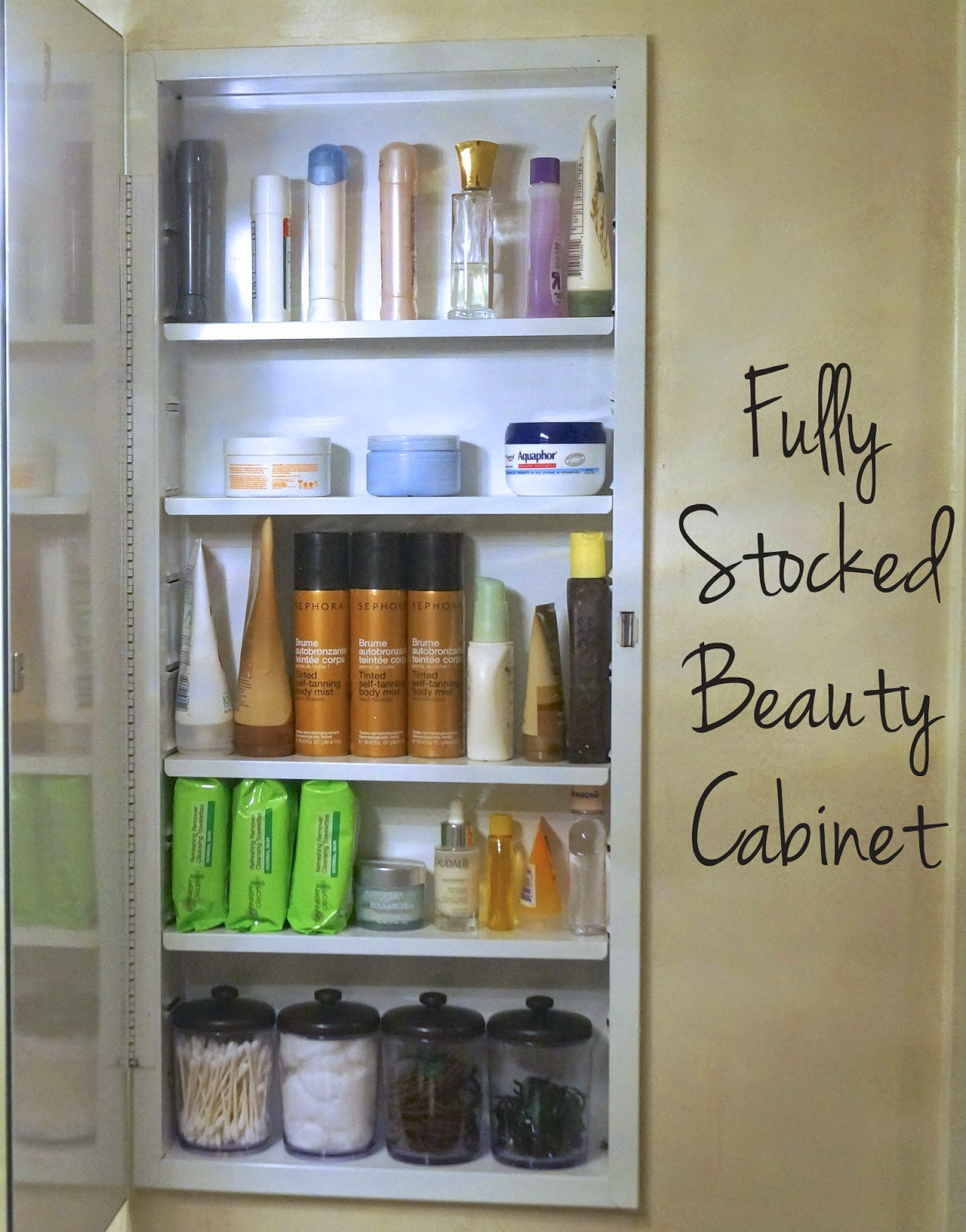DIY: bathroom organization