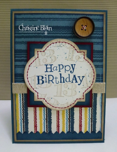 HAPPY HEART CARDS STB 6 STAMPIN UP TEENAGE BOY BIRTHDAY CARD – Teen Birthday Cards