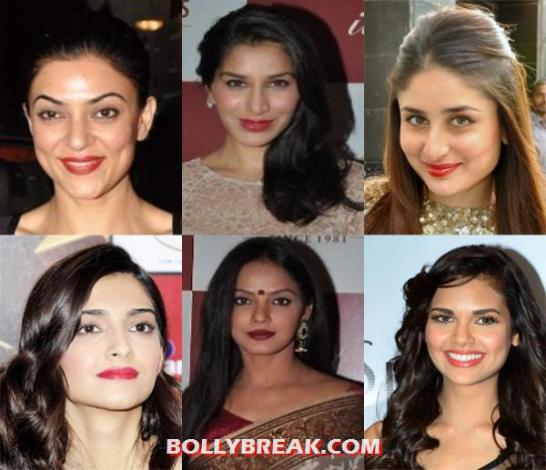 Leading ladies with red lips - Bold red Lips