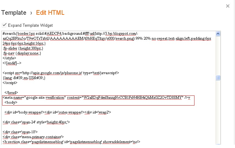 tutorial blog,meta tag,html edit in blogger