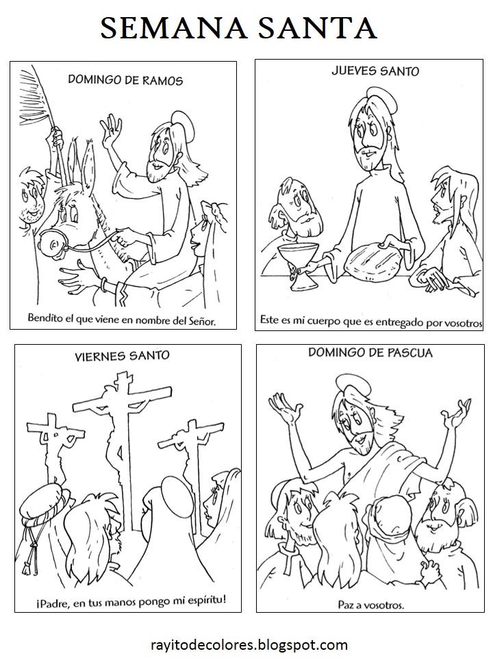Compartiendo por amor: Dibujos Semana Santa