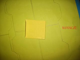 Elaboración de los sobres en cartulina