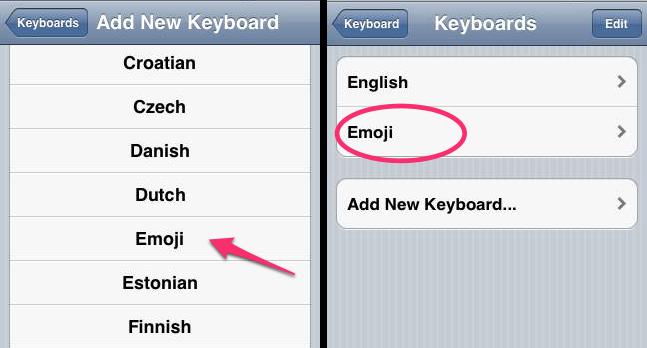 Show Emoji On iPhone iPad