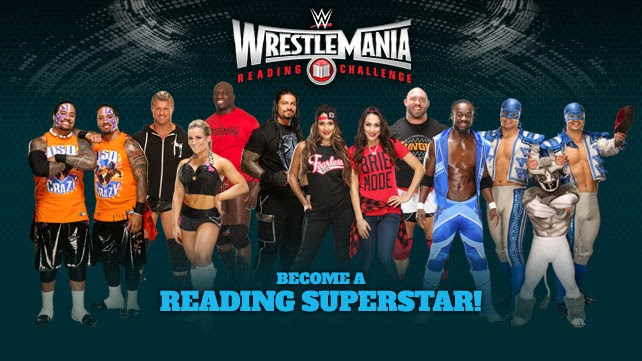 Participate in the WWE Reading Challenge to win a chance to go to WrestleMania!