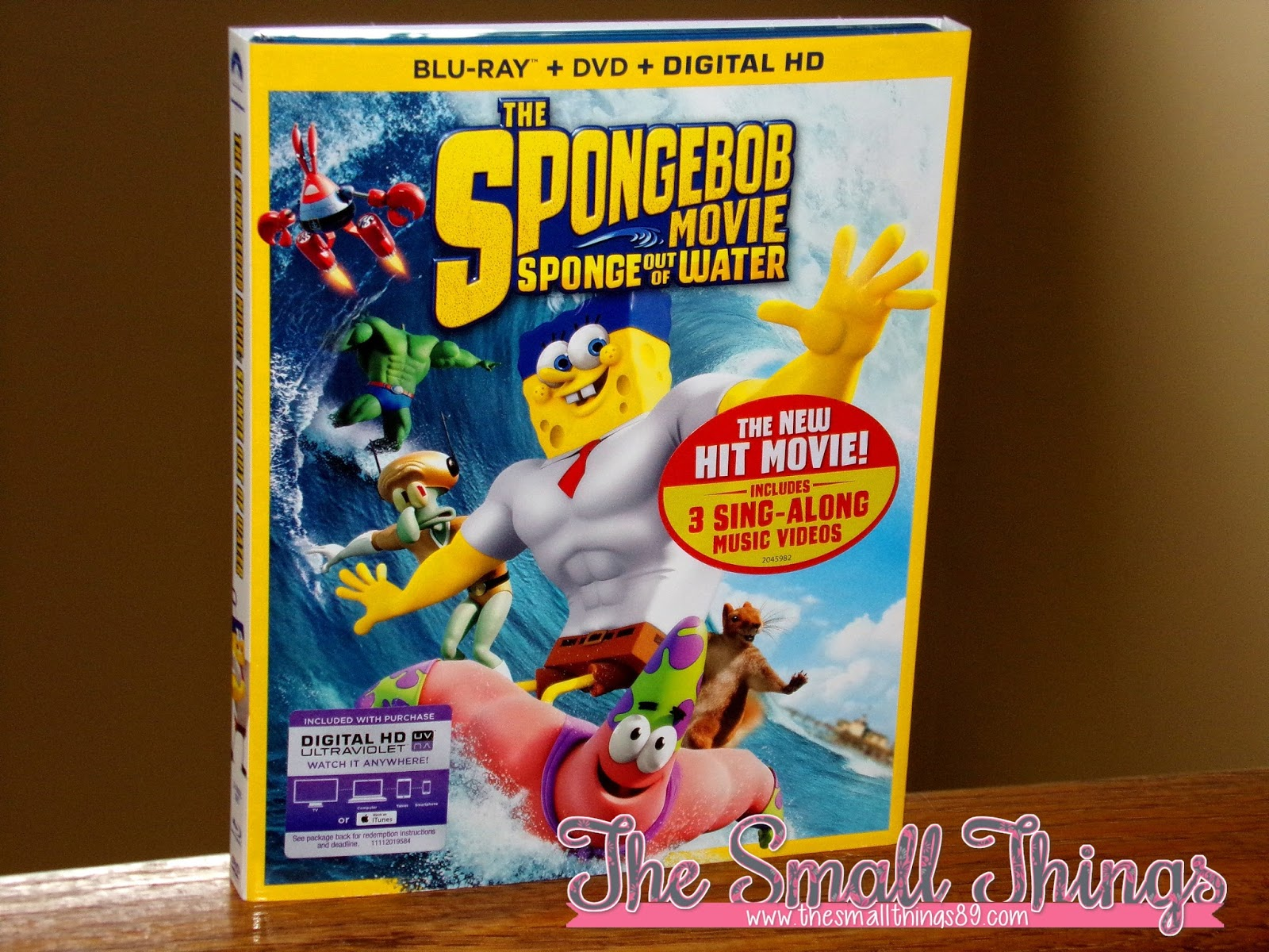 the spongebob movie sponge out of water on blu ray combo pack and