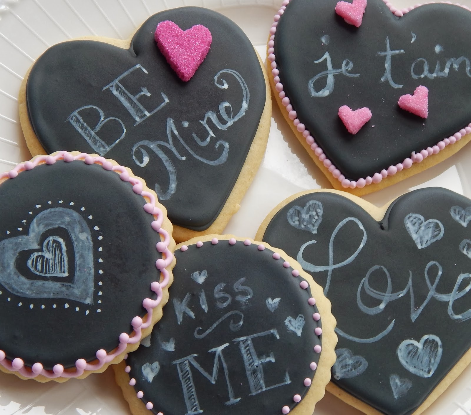 Valentine Chalkboard Cookies