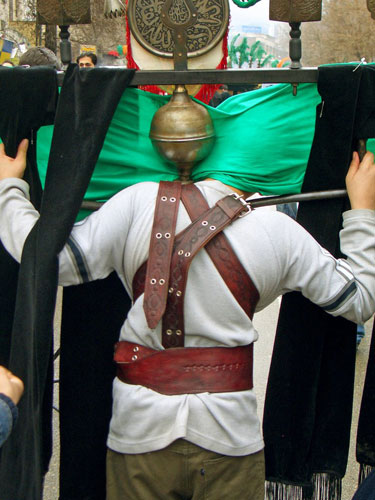 Alam carried during the Ashura Festival