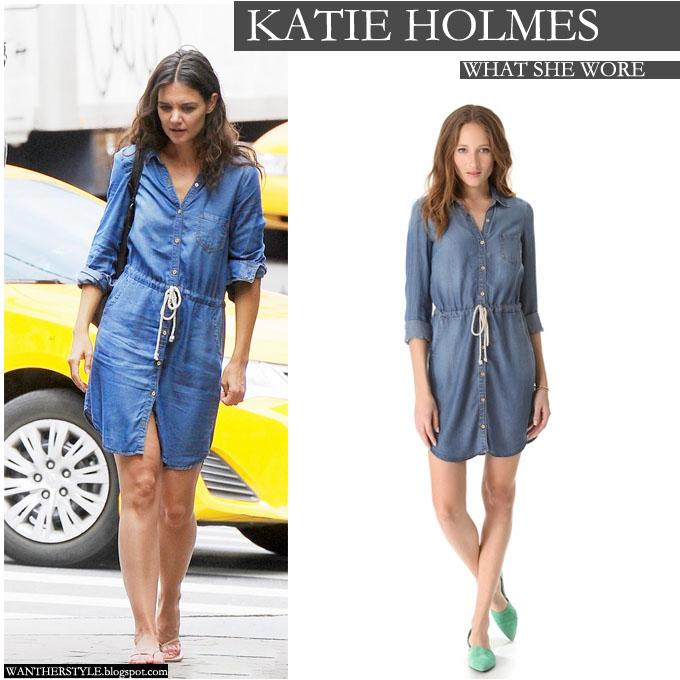 Blue Denim Shirt Dress in