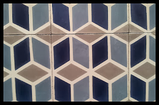 Trend: Geometric cement tile pattern