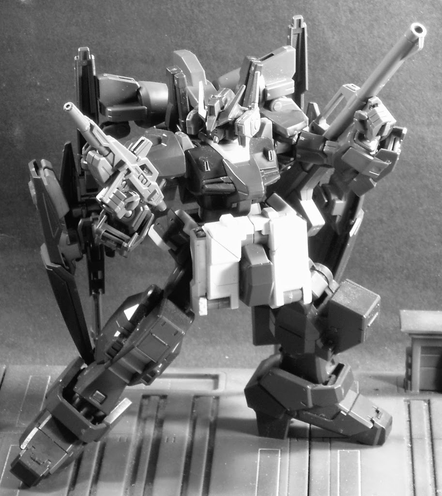 Combined HGBF and HGUC RX-178 Mark II Gundam parts, with HGUC Advance of Zeta Hazel parts kitbashed as well.