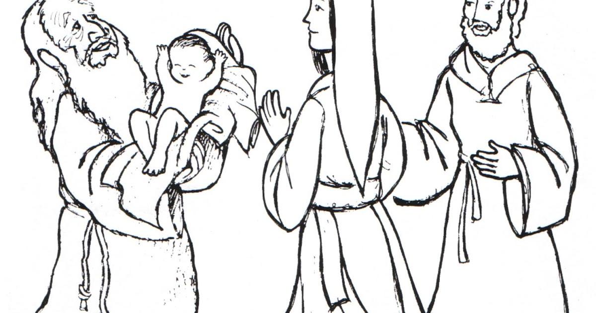 Presentación de Jesús en el templo para colorear | Dibujos ...
