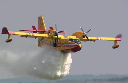 basmi kebakaran hutan dengan pesawat amphibi