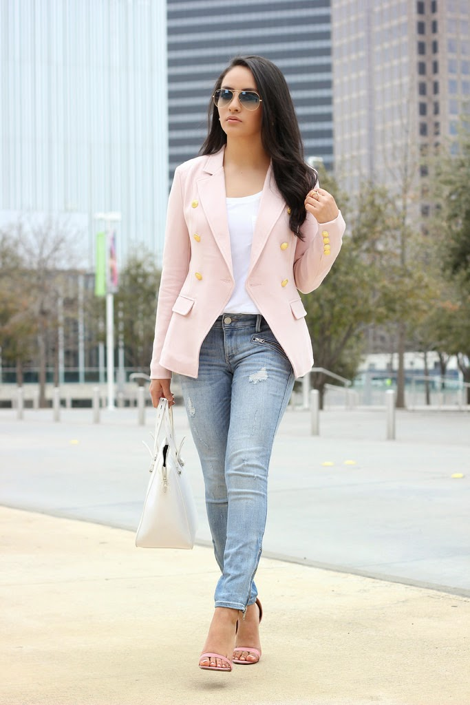 Collection Light Pink Blazer Pictures - Reikian