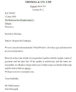 Surat Niaga Dalam Bahasa Inggris Mengenal Administrasi
