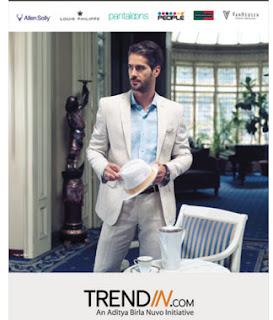 Trendin : Clothing, Footwear & Accessories upto 40% off + 30% Cashback Via PayTM wallet