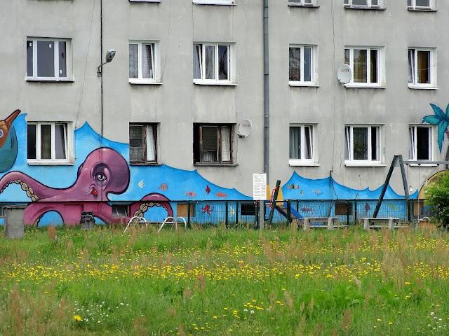Murale osiedla Dudziarska w Warszawie