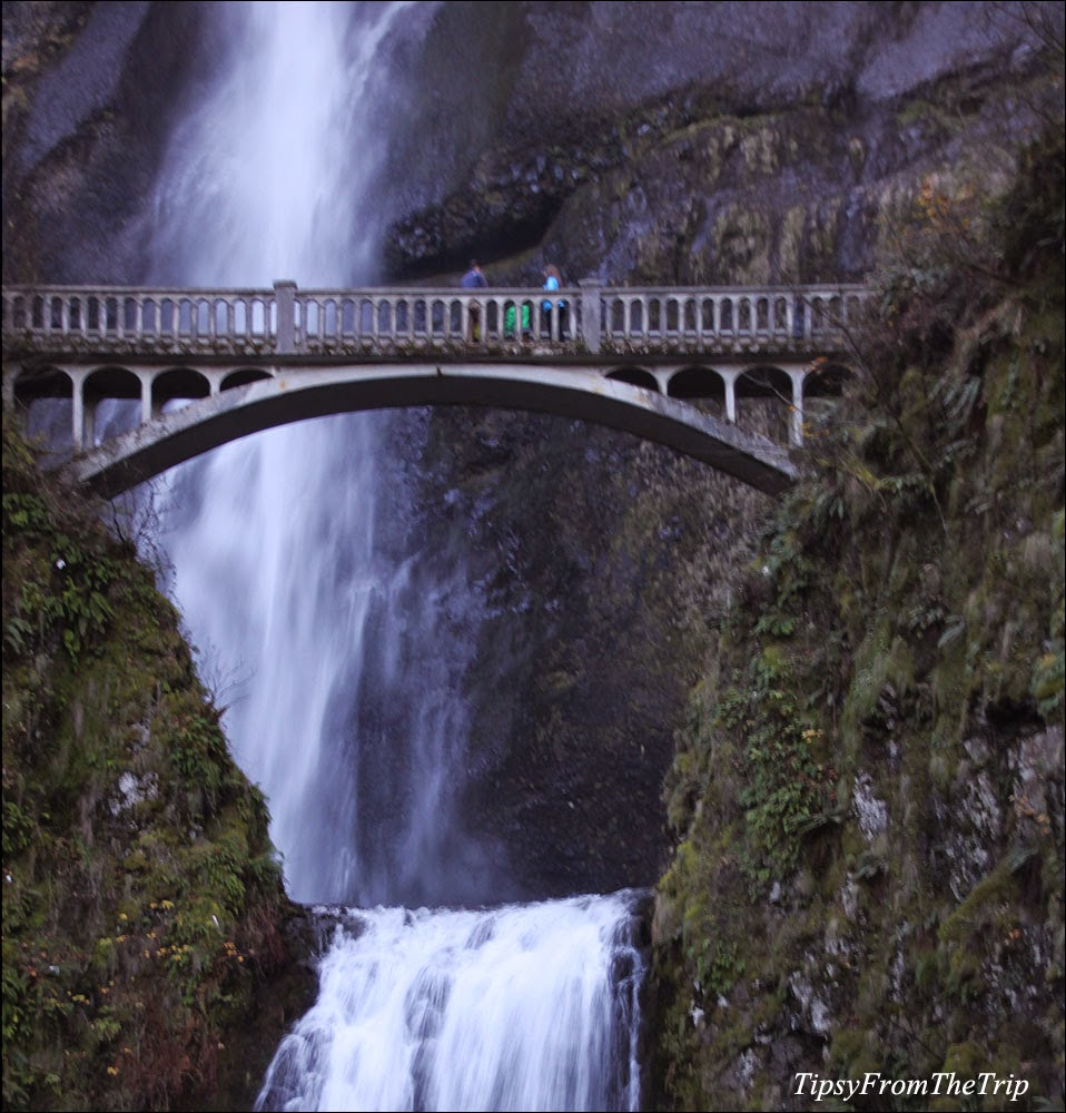 Benson Arch Bridge and Multnomah Falls in Oregon