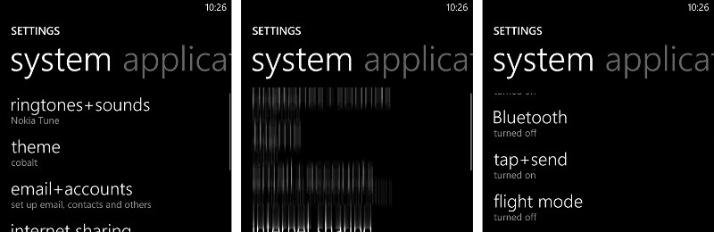 Lumia 820 Settings