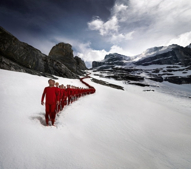 Advertising campaign for 4000 meters in the Alps