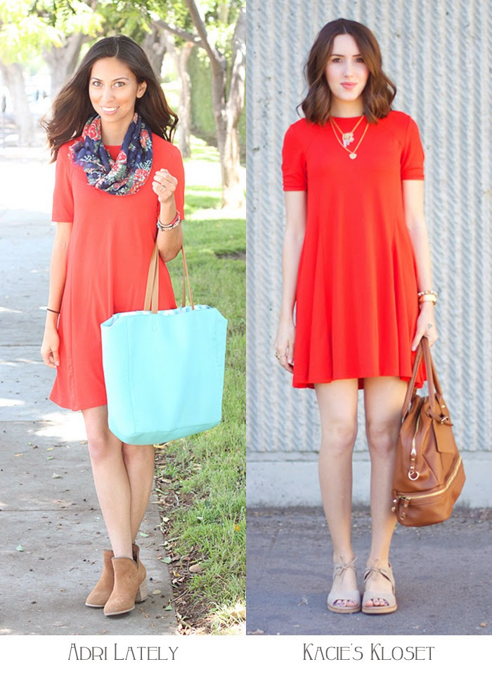 two ways to wear a red dress