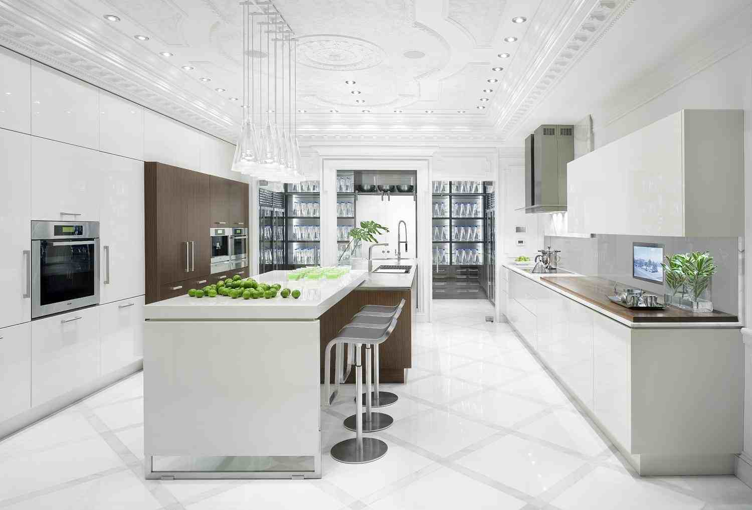 Shades of white kitchen - White cabinet kitchen design ...