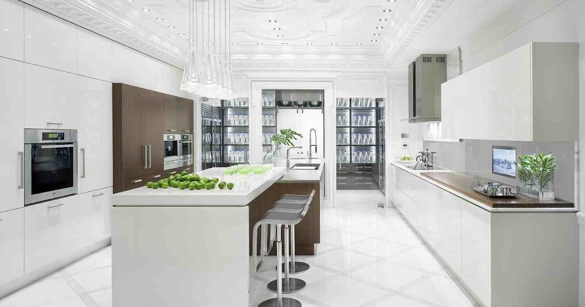 Shades of white kitchen - Pristine shades white home decor ...