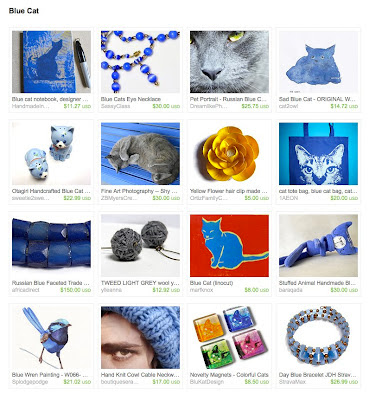 handmade blue cat gift ideas