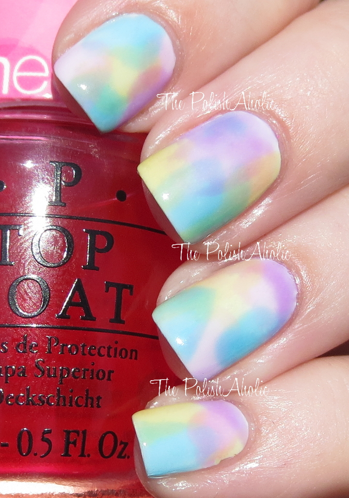 The Polishaholic Watercolor Nail Art With Opi Sheer Tints
