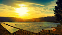 Solar panel sunset (Credit: Shutterstock) Click to Enlarge.