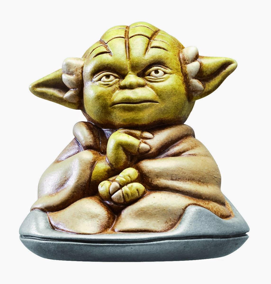 Figura Cerámica Yoda Sentado
