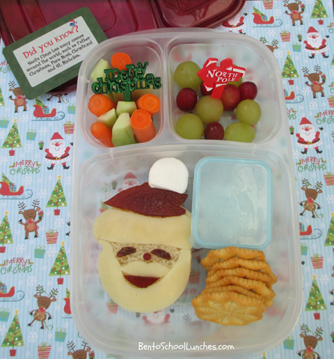 Santa, Christmas, Lunchbox Love, bento school lunch