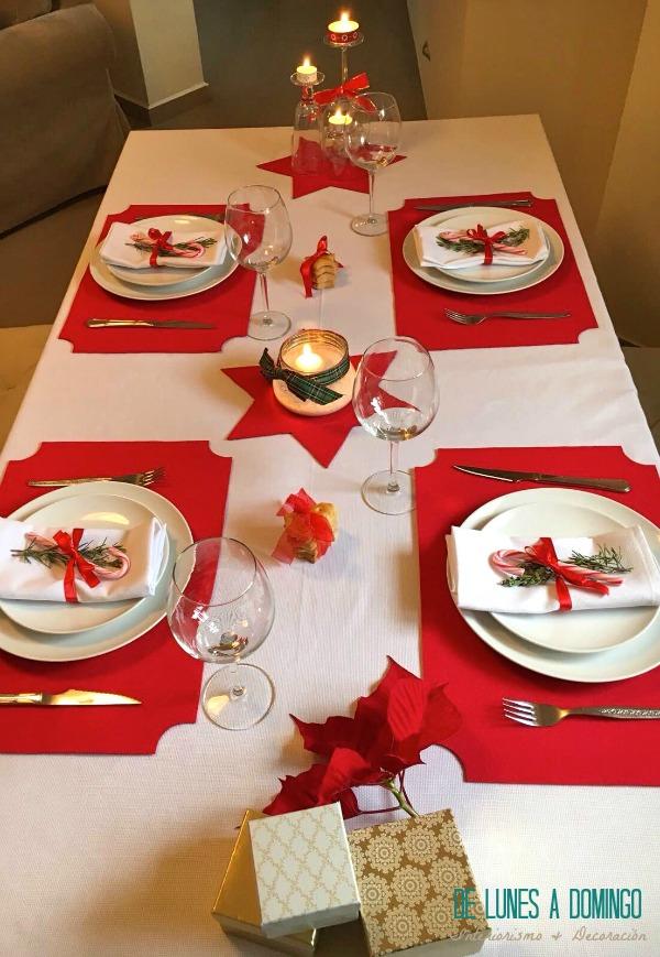 De lunes a domingo decoramos una mesa de navidad para la for Decoracion de navidad barata