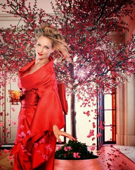Campari 2014 Abril calendario Uma Thurman
