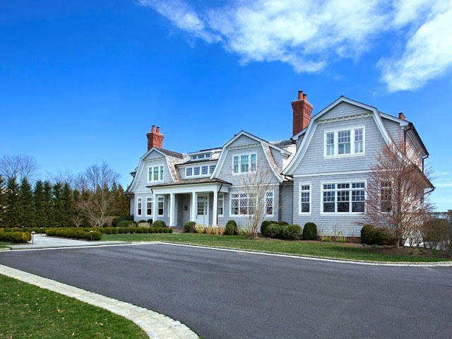 Exterior of a mansion in the Hamptons-Water Mill estate