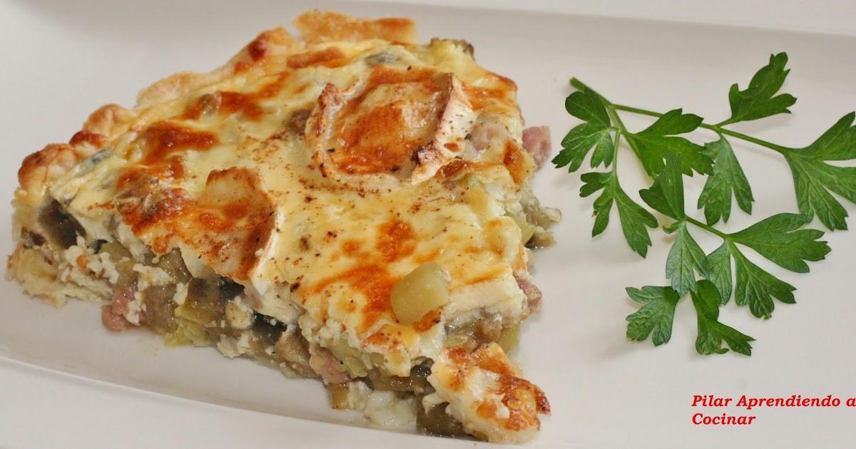 Aprendiendo a cocinar quiche de berenjena calabac n bacon y queso de cabra - Beneficios queso de cabra ...