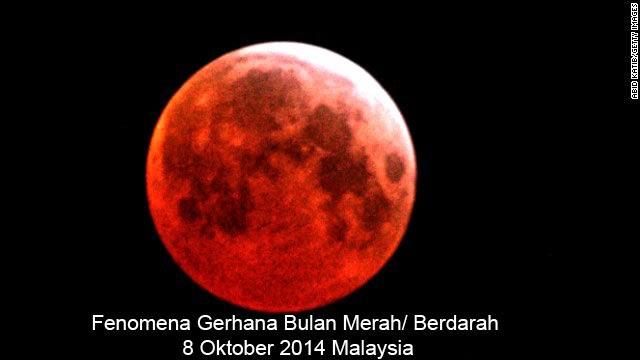 Kalimah Allah dan Muhammad di Langit Ketika Gerhana Bulan Berdarah 8 Oktober 2014