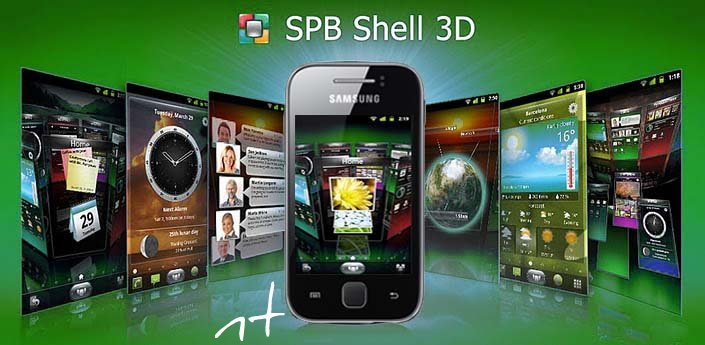 SPB Shell 3D on Samsung galaxy y s5360 runs successfully.