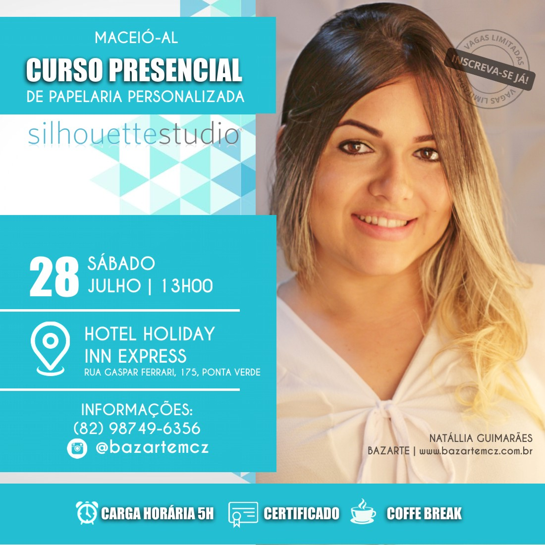 CURSO PAPELARIA PERSONALIZADA/SILHOUETTE