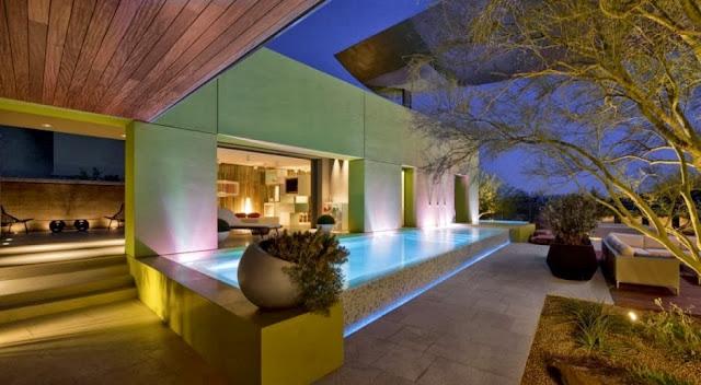 modern pool garden lounge