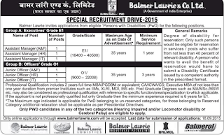 Balmer Lawrie Special Recruitment indgovtjobs