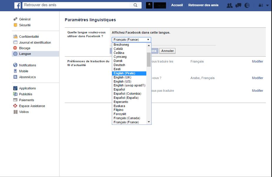 16 options cach233es sur facebook plan232te geeks