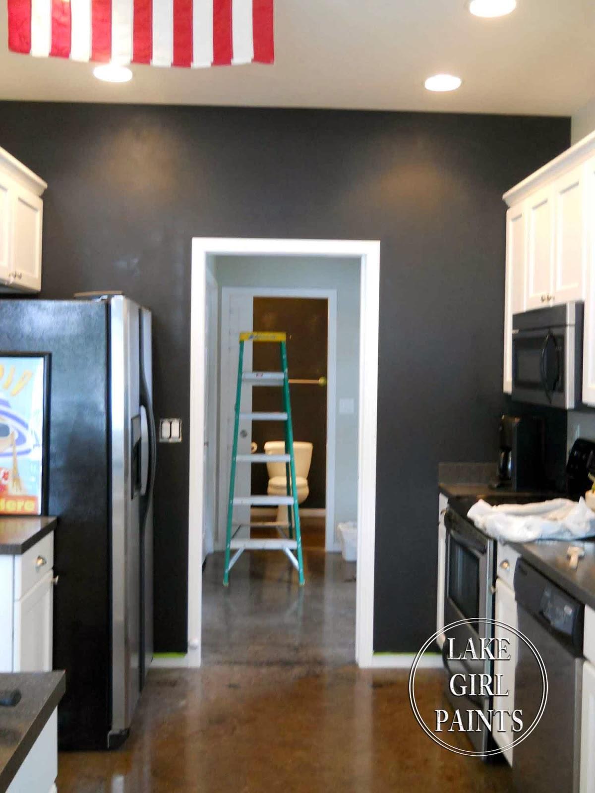 Chalkboard Paint Kitchen Lake Girl Paints Painting My Kitchen Wall With Chalkboard Paint