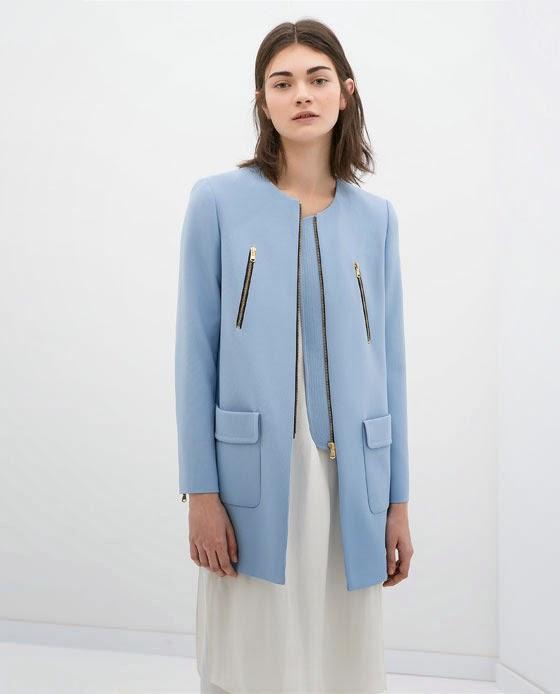 zara blue jacket