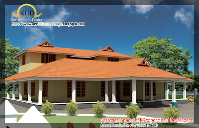 nalukettu house plan - 2750 Sq. Ft