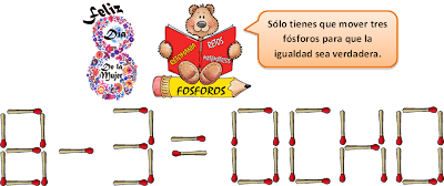 retos matemáticos, problemas con fósforos, acertijos, problemas de ingenio