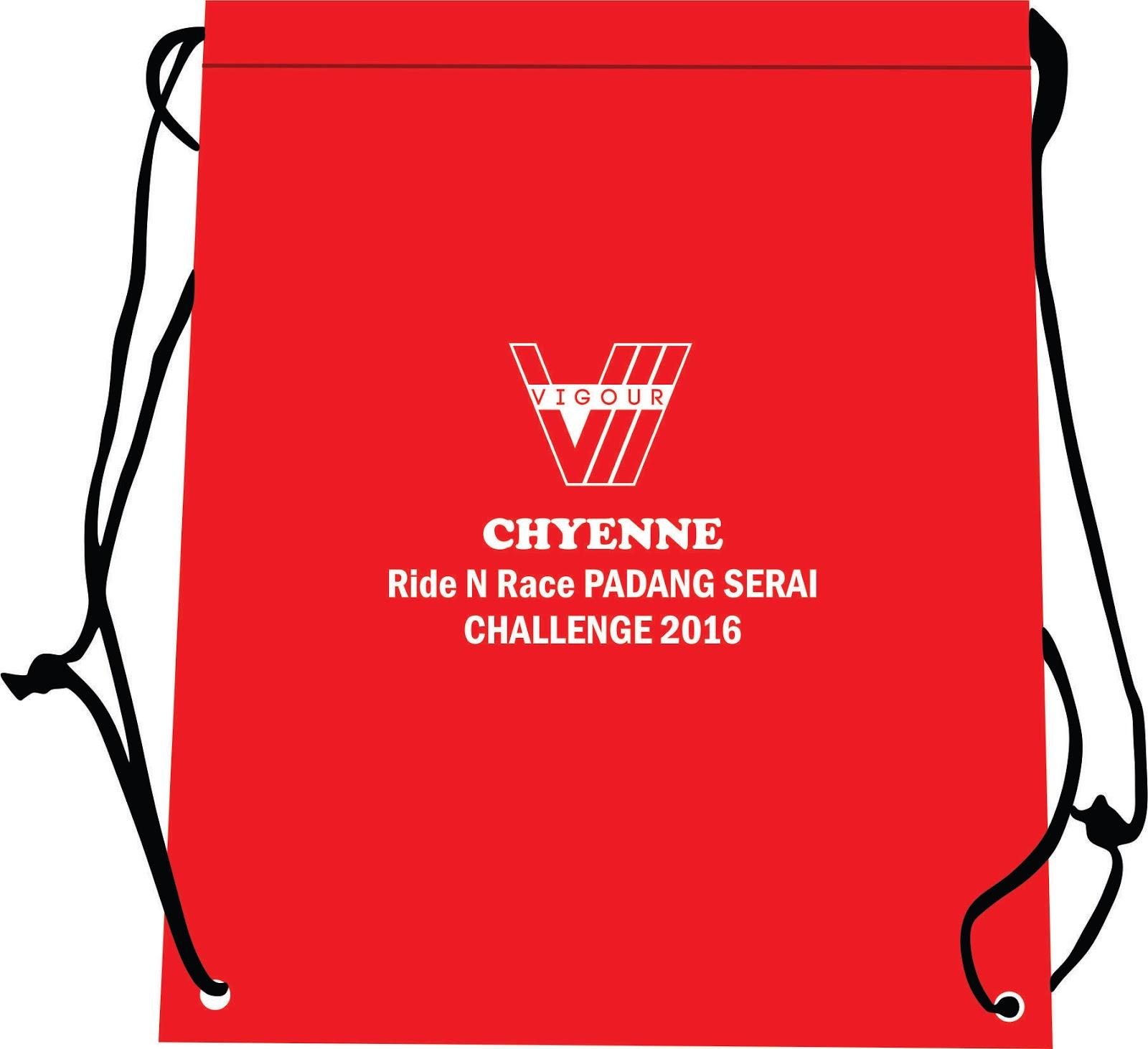 Chyenne 'Ride n Race' Padang Serai Challenge: Baju T / T-shirt / Medal